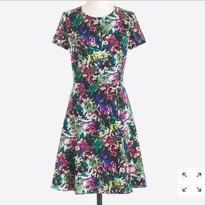 J. Crew factory floral printed flutter dress 8
